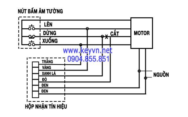 Sơ đồ mạch điện hộp nhận tín hiệu Motor AC